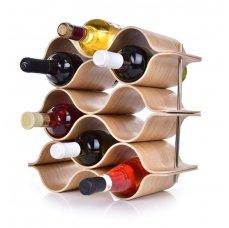 BAMBOO vinotéka/stojan na víno GoEco®, pro 9 lahví