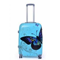 TSA kufr střední, BLUE BUTTERFLY, 44 x 26 x 60 cm