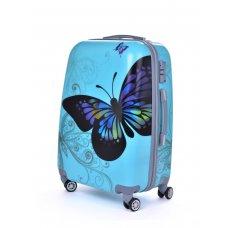TSA kufr menší, BLUE BUTTERFLY, 37 x 23 x 50 cm