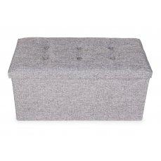 Taburet, skládací s úložným prostorem, vel. XL, šedivá barva