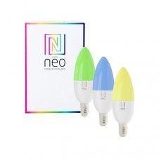 Immax NEO Smart sada 3x žárovka LED E14 5,5W RGB+CCT barevná a bílá, stmívatelná, WiFi