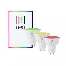Immax NEO Smart sada 3x žárovka LED GU10 5,5W RGB+CCT barevná a bílá, stmívatelná, WiFi