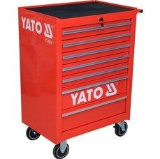 Pojízdná dílenská skříňka, 7 zásuvek, červená, YATO