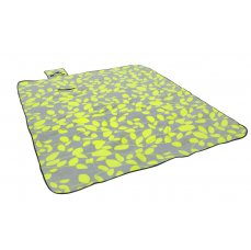 HomeLife Pikniková deka šedozelená 180 x 210 cm