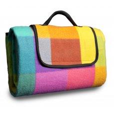 HomeLife Pikniková deka barevné kostky 150 x 180 cm