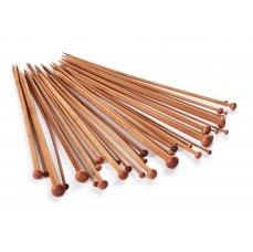 Dedra 36 ks sada klasických bambusových jehlic GoEco®, délka 34 cm