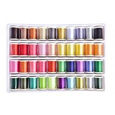 Dedra 40 ks sada barevných nití pro ruční i strojové šití a vyšívání, 40 x 280 m