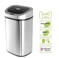 Bezdotykový koš Helpmation na tříděný odpad (DZT 80-4R)