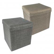 HomeLife Skládací taburet s úložným prostorem 37 x 37 cm
