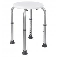 HomeLife Koupelnová stolička výškově stavitelná SVS21, bílá