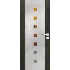 Interiérové dveře VENTURA SATINATO kombinované sklo - čtverce