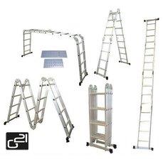 Hliníkové štafle G21 GA-SZ-4x3-3,7M multifunkční + podlážka GA-SZ4-3PDL