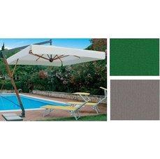 Slunečník Torino Braccio čtvercový zelená barva