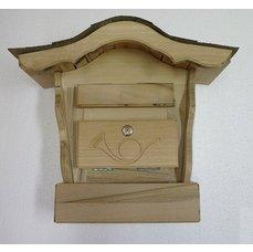Poštovní schránka s řezbou - oblá stříška IV