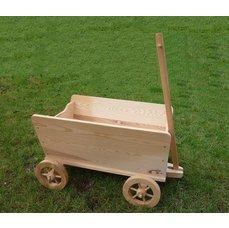 Dřevěný vozík s ojí velký